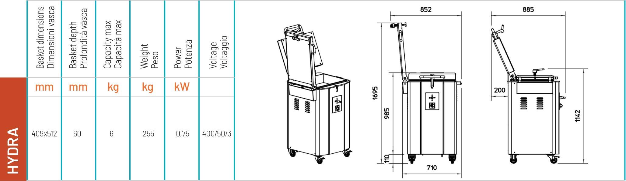 Spezzatrice idraulica a griglie HYDRA - scheda tecnica